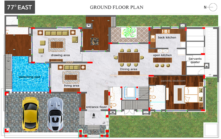 Modern home - Ground floor
